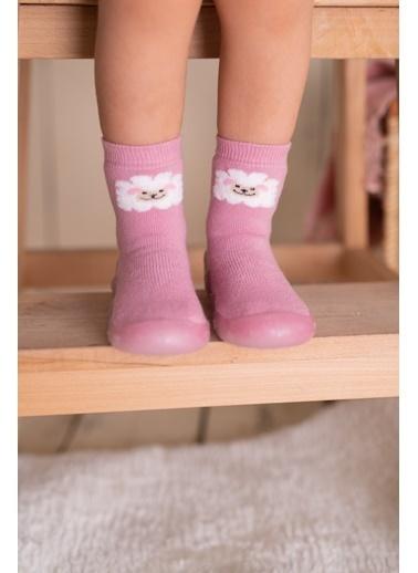 Nou Nou Kuzulu Kaydırmaz Taban Çorap Panduf Pudra